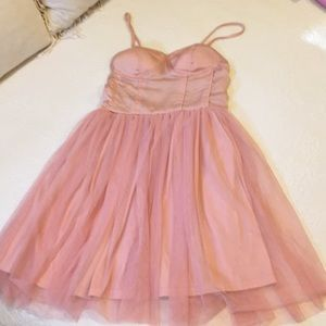 Band of Gypsies ballerina pink blush dress small